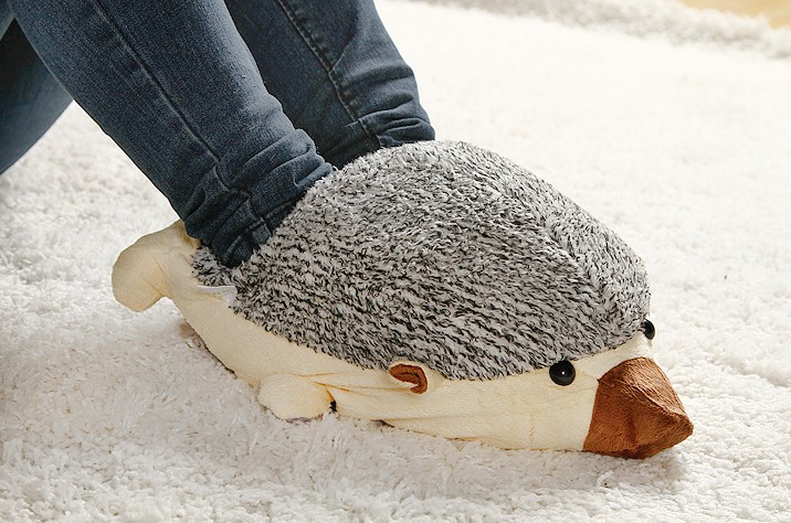 Super Cute Hedgehog Baby USB Heating Shoes