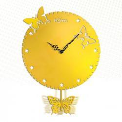 Individual Art Butterfly Quartz Wall Clock